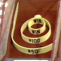 Doug Davidson's practice ball went into the $50 circle.