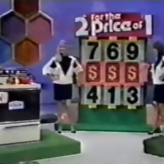 And she can win both by pricing the range. The first digit in its price is 7 or 4, the second is 6 or 1, and the third is 9 or 3; and we'll give her one digit for free.