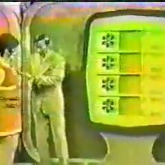 The old tacky yellow board. A playing of the then-nameless Bonus Game from show #4.