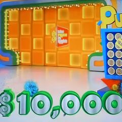 A graphic is now used when someone ends up winning the second highest cash prize in