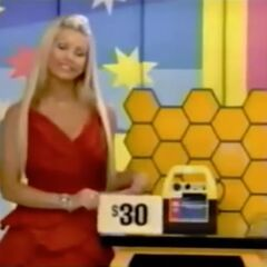 She bid $30 on the jump starter and is exactly right. So she automatically wins the mini-fridge and the Worst Case Scenario board game (which are $50 and $30, respectively; the electronics are broken). She picks cards #6, #24, and #7.