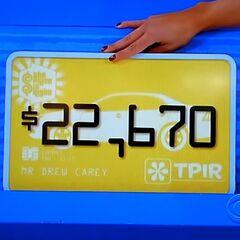 She picks $22,670...
