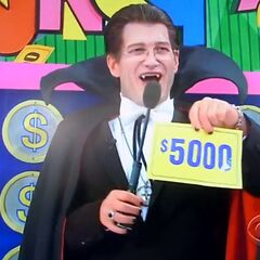 On his last punch, he has $5,000.