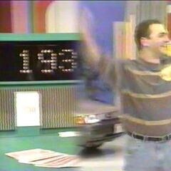This contestant was $193 away and he wins the game from November 17, 1992 (#8582D).