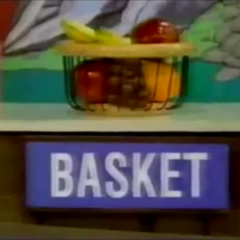 Chad is playing Cliff Hangers and the first item is a basket.