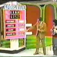 The Dinette & Color TV; I know this doesn't look like it, but this contestant lost. Bob was just showing her the right two.