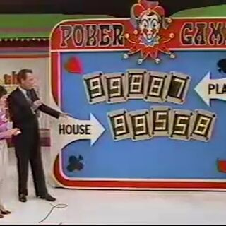 Two 2-pair hands consisting of 9's, but this contestant's hand got 8's while the house got 5's; so the contestant won.