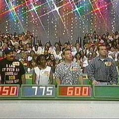 Contestant's Row from 1997: Two different curtains were used such as this....
