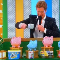 First, he picks the Johnson & Johnson Disney's Frozen Band-Aids a.k.a Antonio Bandáges.