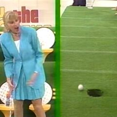 Janice has missed her inspiration putt.