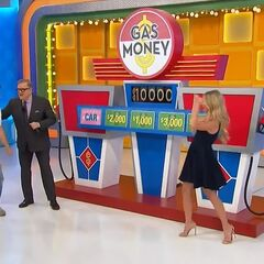 He wins the car and $10,000!