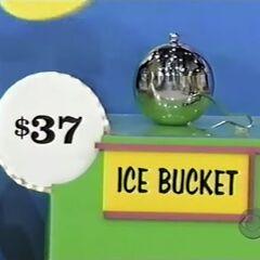 He thinks the ice bucket is $37.