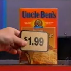 Finally, she picks 1 Uncle Ben's instant brown rice for a total of...