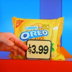 First, she picks 6 Lemon Oreo cookies which come to...