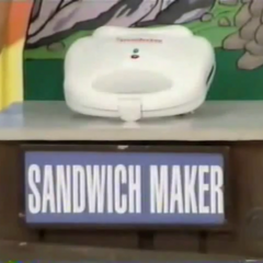 Natalie plays Cliff Hangers. The first item is a Sandwich Maker (for making sandwiches).