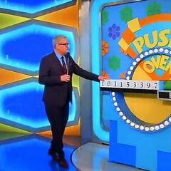 Here's the repainted Push Over set. The letters are in yellow and the hands are removed.