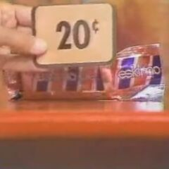 Next, she picks 1 Eskimo Pie for a total of $6.71. She has 4¢-29¢ left to go.