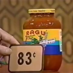 Third, she picks 2 Ragu spaghetti sauces which come to..