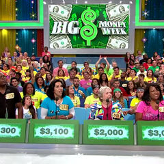 The Contestant's Row podiums for Big Money Week 2015. The bids are not only centered, but also include dollar signs and commas, similar to that of the <a href=