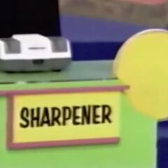 She thinks the sharpener is $50 but is incorrect.