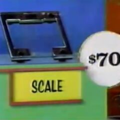 He thinks the scale is $70. He is correct.