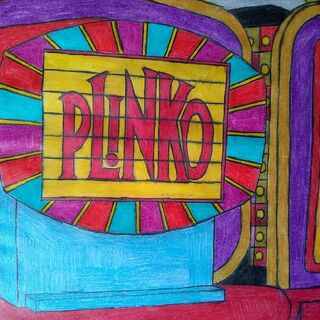 a custom drawing of the Plinko sign that a fan drew...
