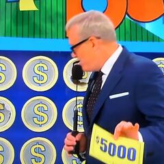 On his second punch, he has $5,000. He decides to keep it.