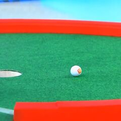 The contestant has missed the putt. But the game is not over yet, because...