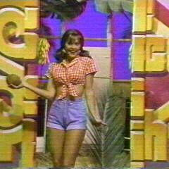 Lisa as Mary Ann in a <i>Gilligan's Island</i>-related showcase skit.