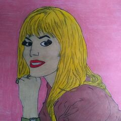 a portrait of Dian Parkinson, hand drawn by a fan