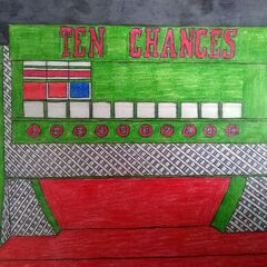 a custom drawing of Ten Chances that was drawn by a fan