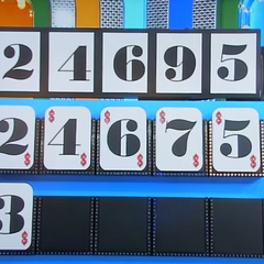 This contestant was so close! Only 1 number off.