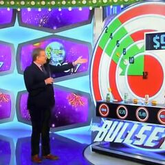 ...one the board at least. So the hidden bullseye has to be hidden behind the tuna to win.