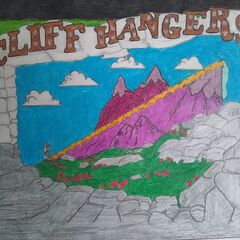 a drawing of the Cliff Hangers game by a fan