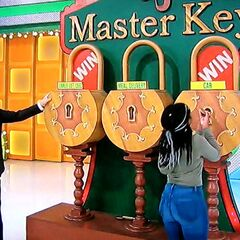 Luckily, the second key she picked was the master key!
