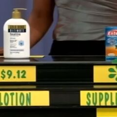 Andrea says the Ester-C vitamin supplement is less expensive than the Gold Bond lotion.