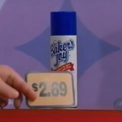 Finally, he picks 1 Baker's Joy cooking spray for a total of...