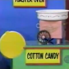 He thinks the cotton candy maker is $28 but is incorrect.