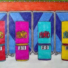 and the Plinko podiums