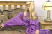 Teri Harrison in Satin Sleepwear-9