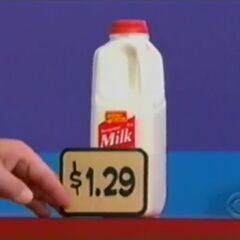 She picks 2 milks, which come to...