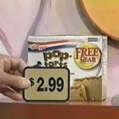 Second, she picks 1 Pop-Tarts pastry for a total of...
