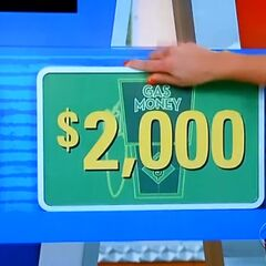 He wins the car and $10,000!!!