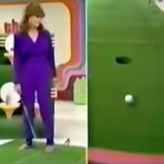 Holly has missed her inspiration putt.