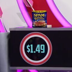 First, they pick 6 Spam spiced pork single slices which come to...