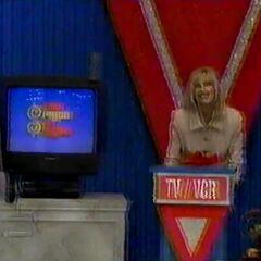 She picks the TV/VCR.