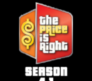 The Price is Right/Season 41 Statistics