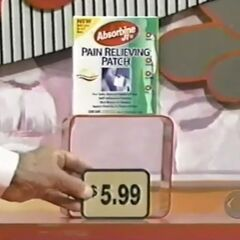 Fourth, she picks 2 pain relieving patches which come to...