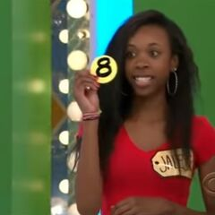 Her third draw is an 8. She thinks it's the third number but is incorrect.