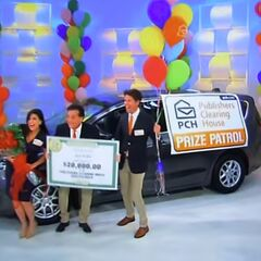 He's won $30,000 in cash because he was the first contestant to win the pricing game.
